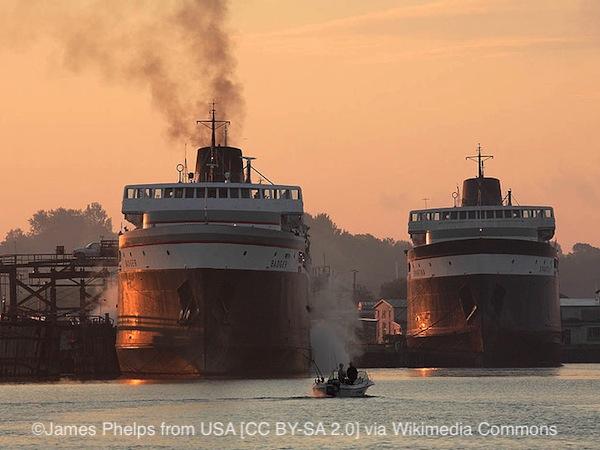 SS Badger on Lake Michigan