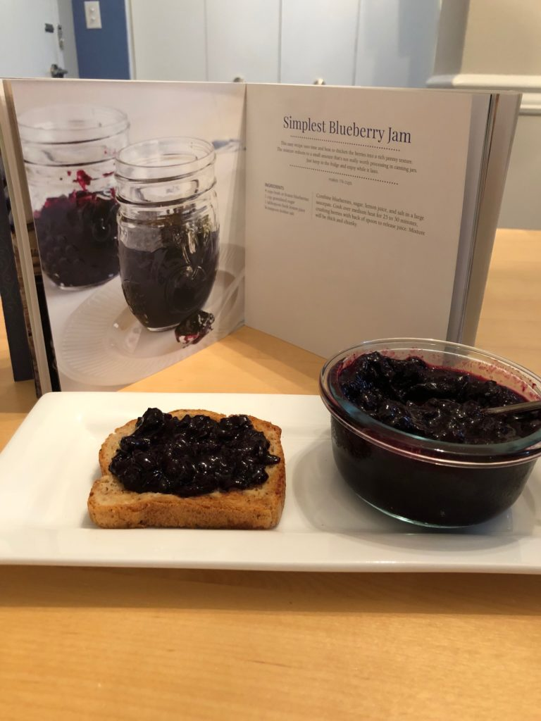 Blueberry Linzer Cookies