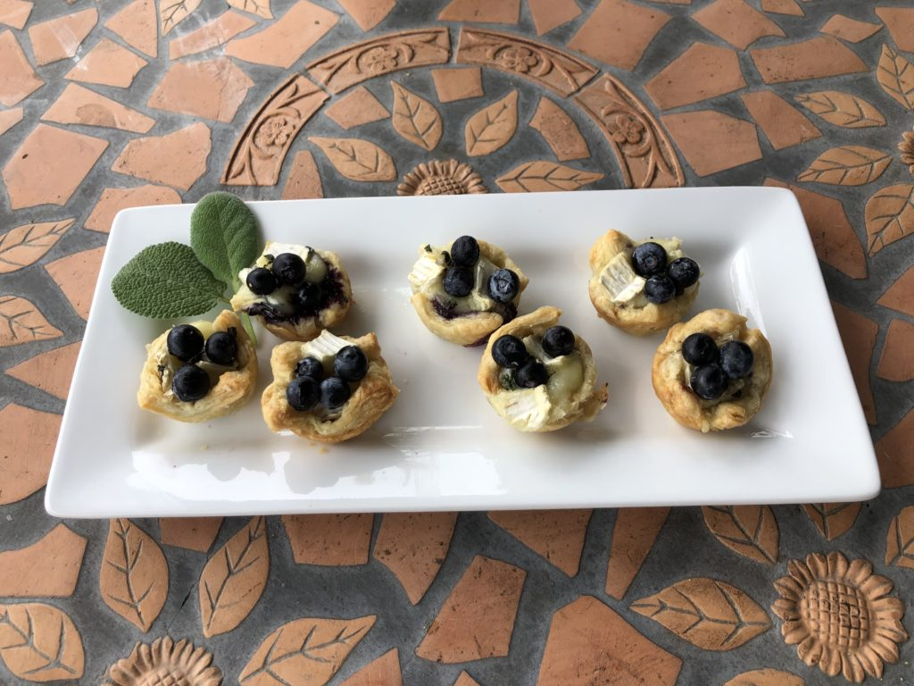 Blueberry and Brie Tartlets