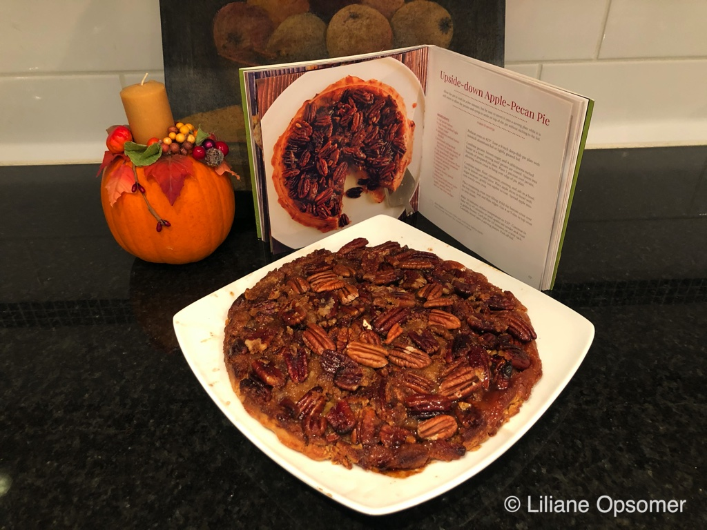 Upside-down Apple-Pecan Pie